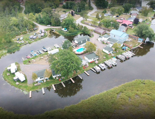 Arial View of Fish and Rest Cottage Resort